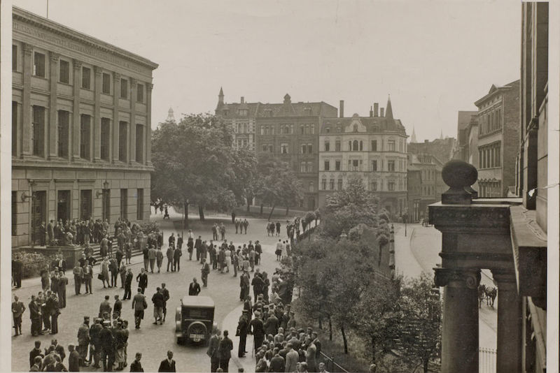 The Universitätsplatz (Campus) in 1934.