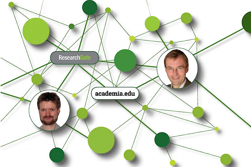 Simon Drescher (left) is one of the most active users of Researchgate.edu. Kai Struve uses Academia.edu almost every day.