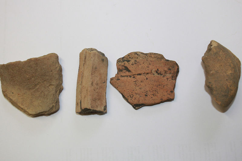 Potsherds of an age up to 2,500 years