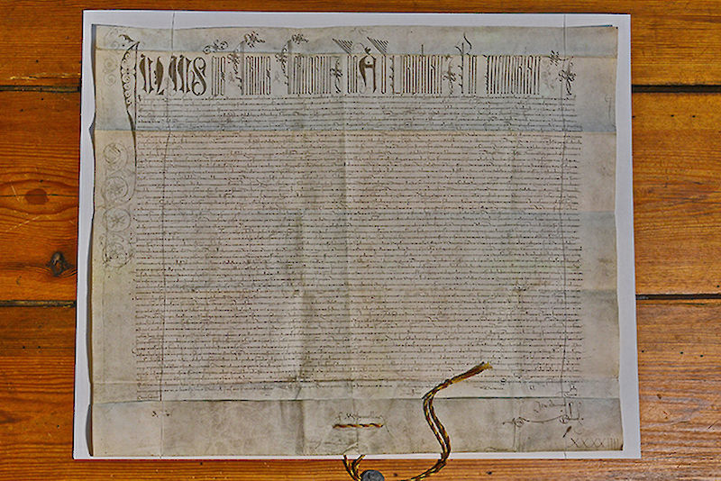 The papal confirmation of the foundation signed in 1507