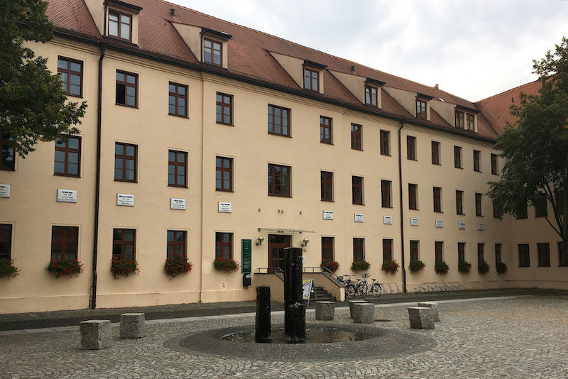 Courtyard of the former Leucorea University in Wittenberg