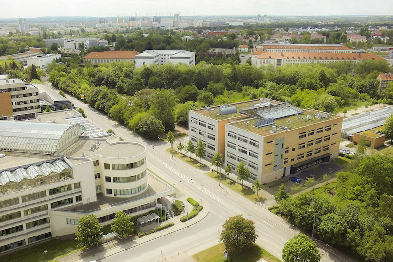 Important locations for biology at the Weinberg Campus: The BioCentre and the Biologicum