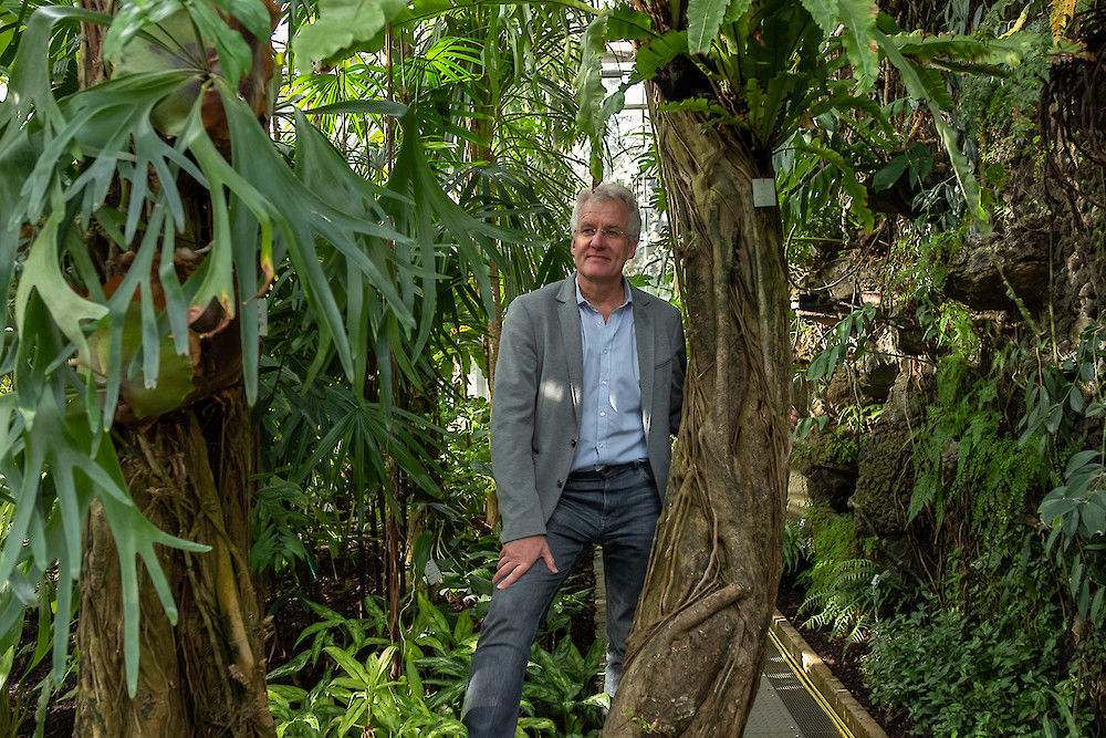 Helge Bruelheide, pictured here in the Botanical Gardens, heads the vegetation project.